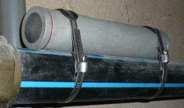 Nautileaux sur une conduite d'eau de 2 pouces