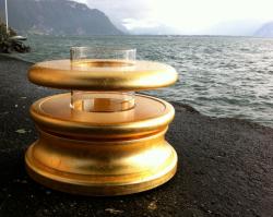 Fontaine Magnétique Ormus Gold à la feuille d'or