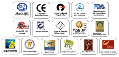 Certifications ISO pour l'ioniseur DELPHI H2