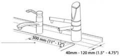 DELPHI H2 colonne sur évier, percer au diamètre 35 mm